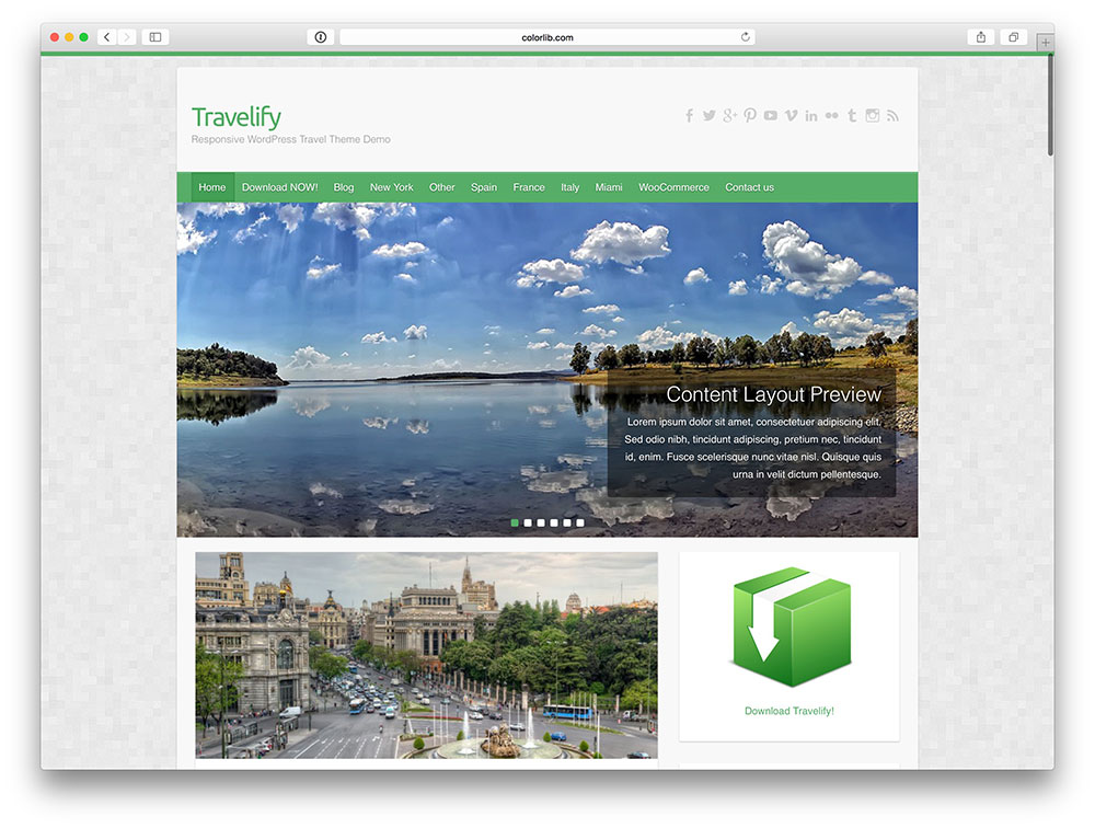 Free WordPress travel theme