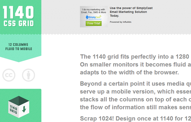 desktop view of 1140px CSS Grid