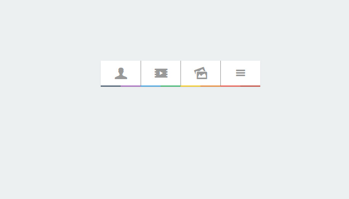 css rainbow naviation menu design open source
