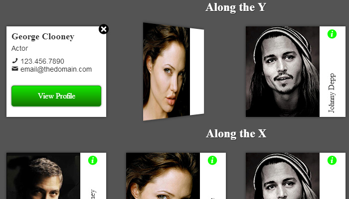 3d css3 profile vcard badges effect animated ui open source