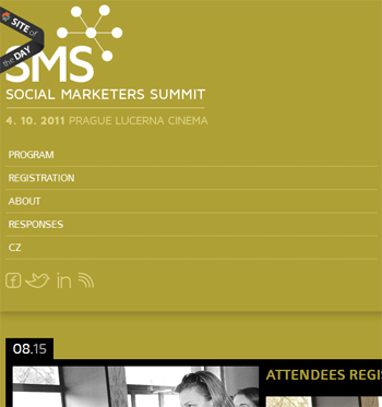 responsive mobile view of Social Marketer's Summit
