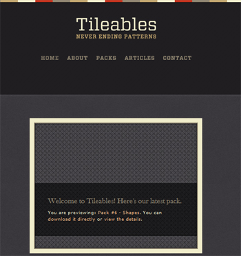 responsive mobile view of Tileables