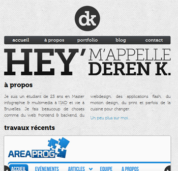 responsive mobile view of Deren Keskin