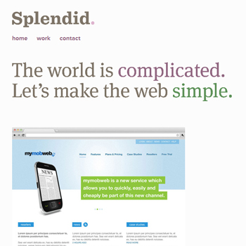 responsive mobile view of Made by Splendid