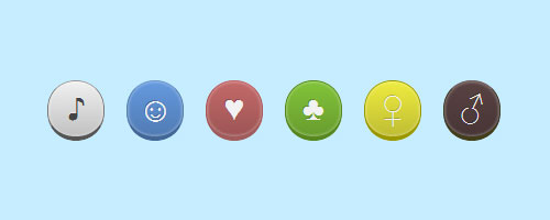 css3 rounded buttons