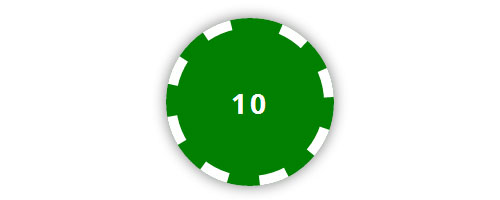 css3 poker chip button