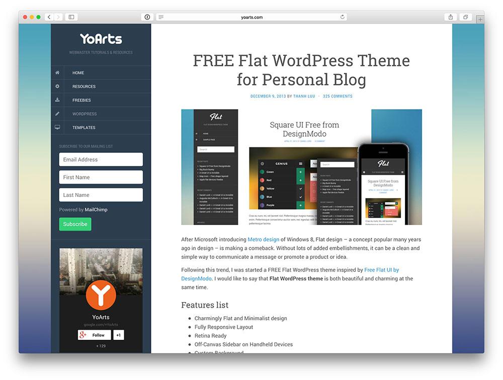 Flat Blog Theme